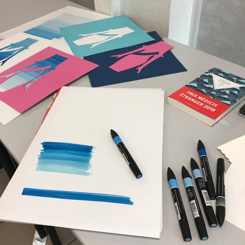 Livre Miss Islande. Illustration de couverture revue par Peggy Verdillon, studio graphique en coirs de création.