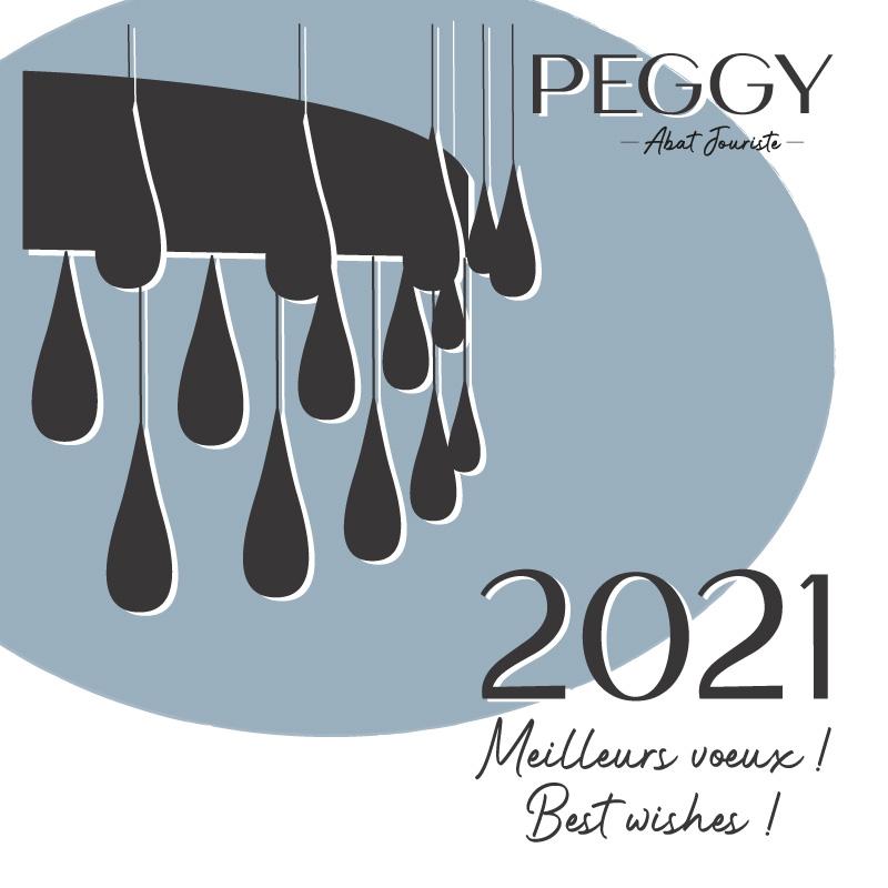 Carte de voeux 2021, PEGGY artisan abat jouriste à Chamonix Mont Blanc, Haute Savoie, France.