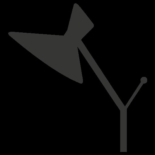 Favicon Lampe Y du logo PEGGY noire, style années 50.