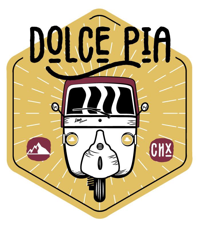 Logo Dolce Pia du service de location du piaggio ape calessino